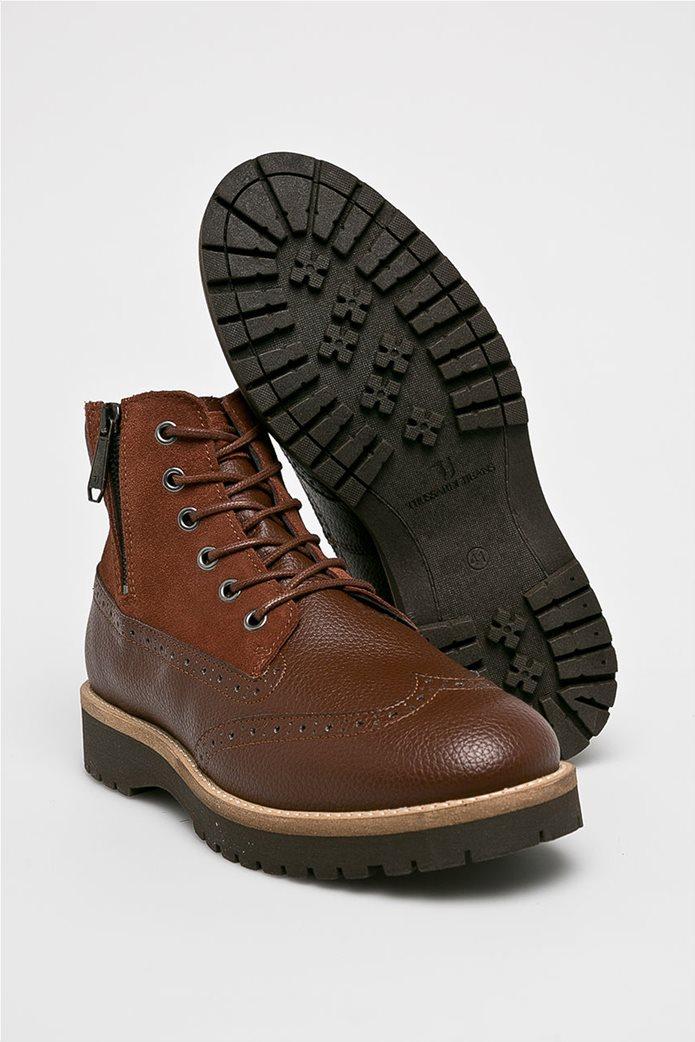 Trussardi Jeans ανδρικά μποτάκια με κορδόνια 4 c9f1f070f93