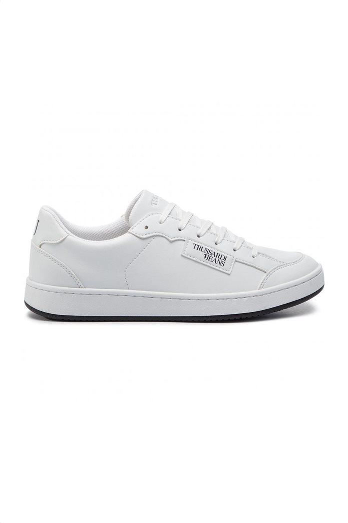 Trussardi ανδρικά sneakers με logo print Λευκό 0