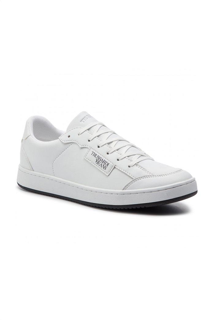 Trussardi ανδρικά sneakers με logo print Λευκό 1