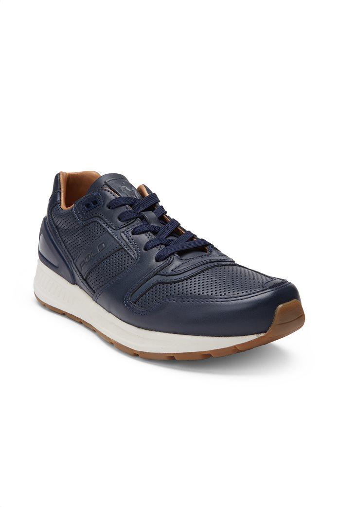 Polo Ralph Lauren ανδρικά παπούτσια δερμάτινα με κορδόνια 1