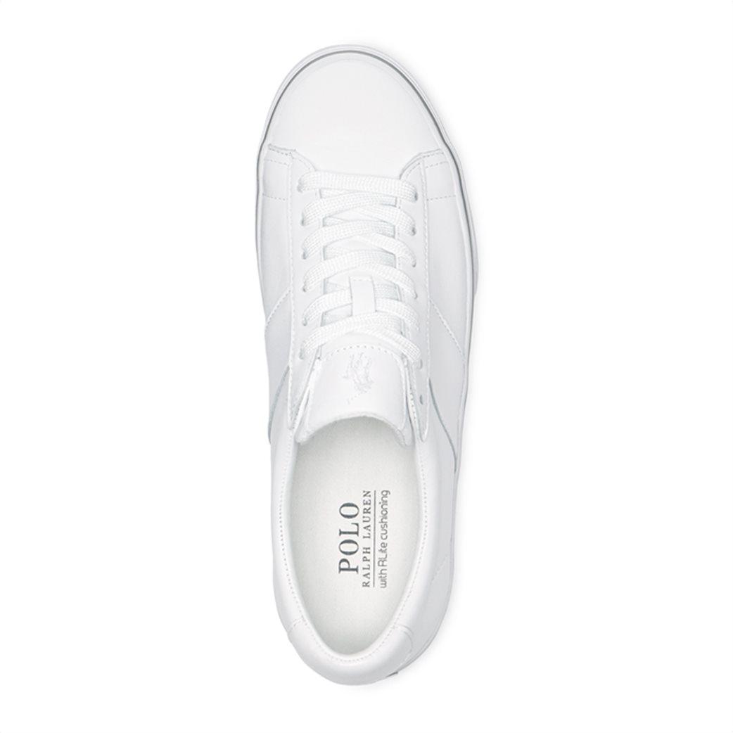 "Polo Ralph Lauren ανδρικά δερμάτινα sneakers με κορδόνια ""Sayer"" 2"