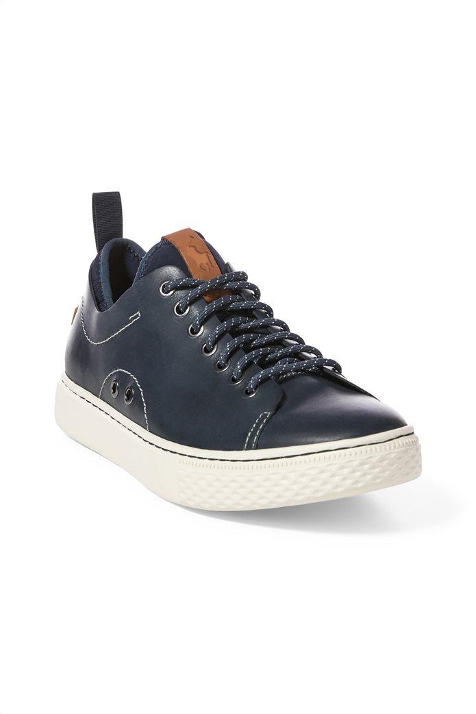 Polo Ralph Lauren ανδρικά sneakers δερμάτινα με κορδόνια Dunovin 1