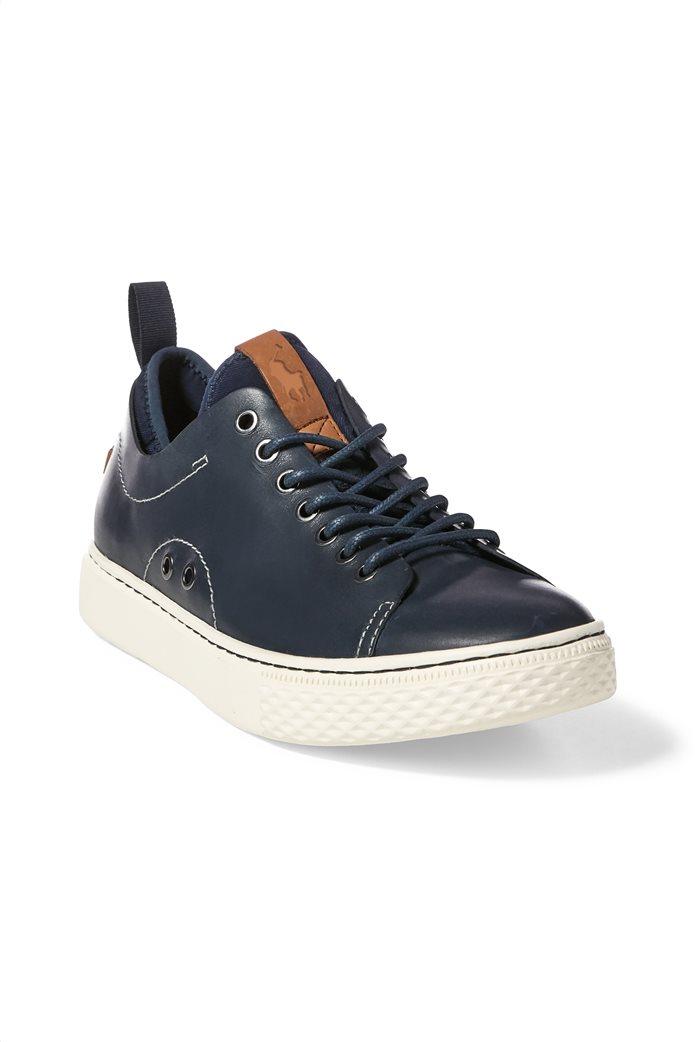 Polo Ralph Lauren ανδρικά sneakers δερμάτινα με κορδόνια Dunovin 2