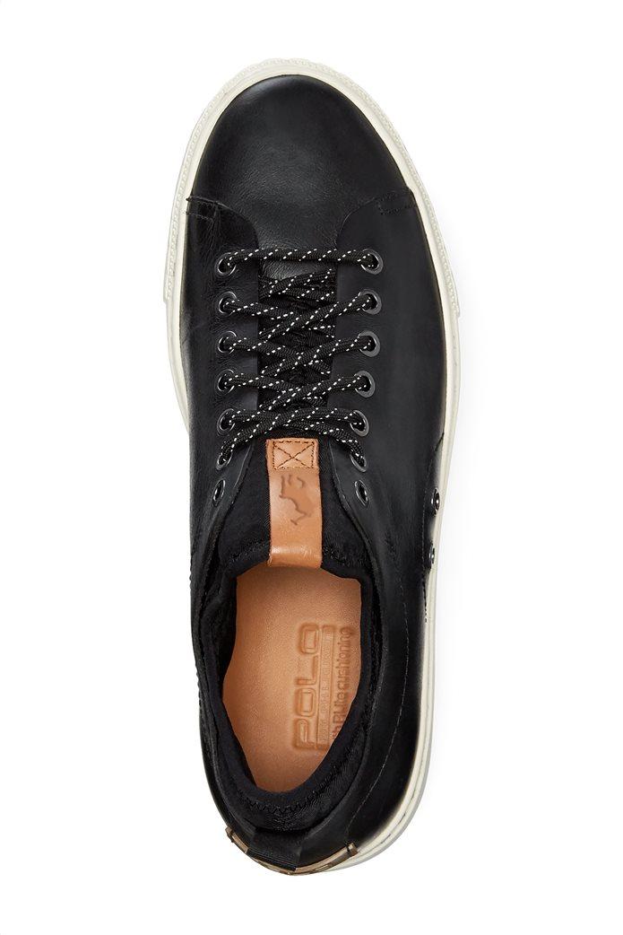 Polo Ralph Lauren ανδρικά sneakers δερμάτινα με κορδόνια Dunovin 3
