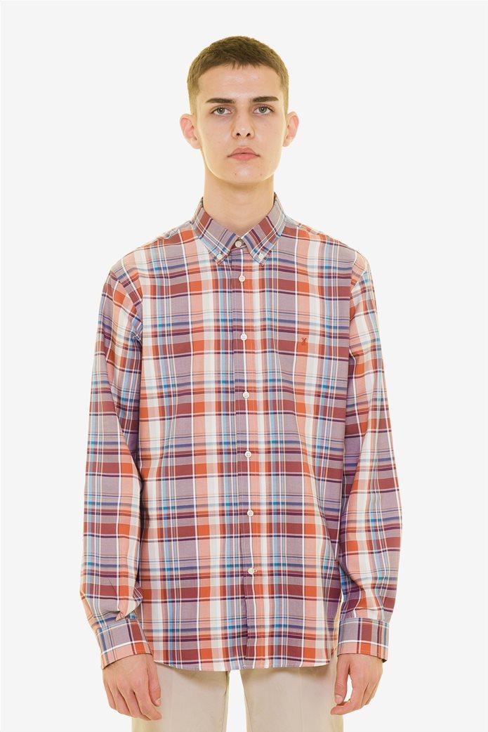 The Bostonians ανδρικό καρό πουκάμισο με μακρύ μανίκι 1
