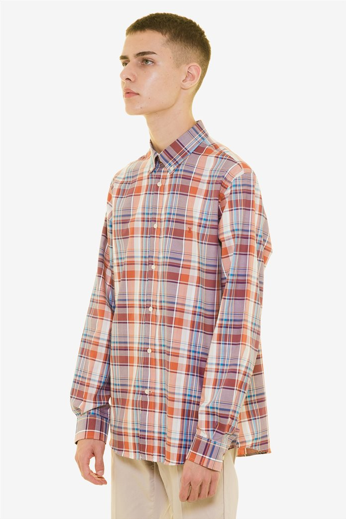The Bostonians ανδρικό καρό πουκάμισο με μακρύ μανίκι 2