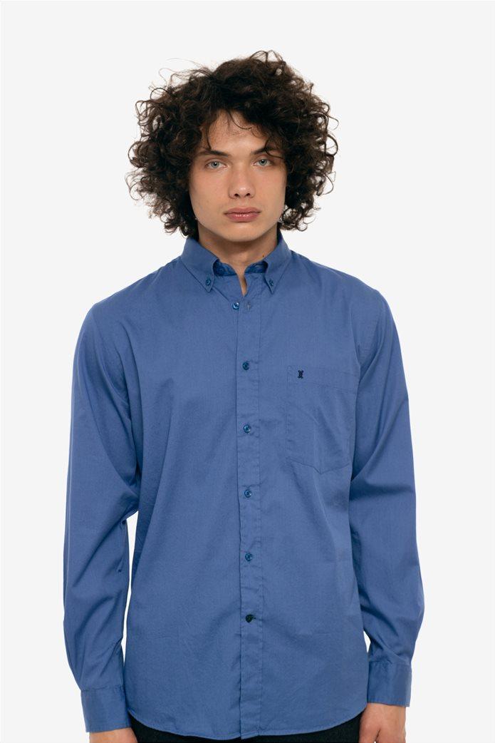 The Bostonians ανδρικό πουκάμισο μονόχρωμο με τσέπη και λογότυπο 1 f27c4d74a07