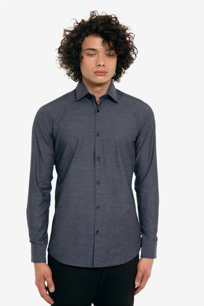 The Bostonians ανδρικό πουκάμισο μονόχρωμο με μικρό γιακά 1 5929e3a00ce