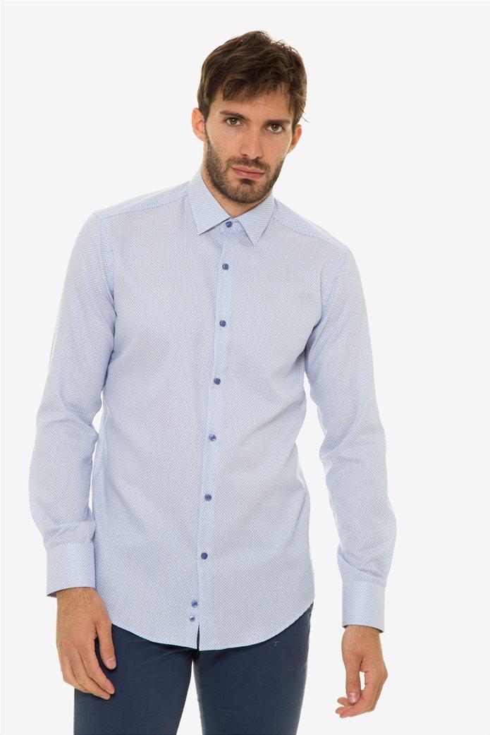 d171b877bc61 The Bostonians ανδρικό πουκάμισο με μικροσχέδιο all-over sizes (39-46) 0