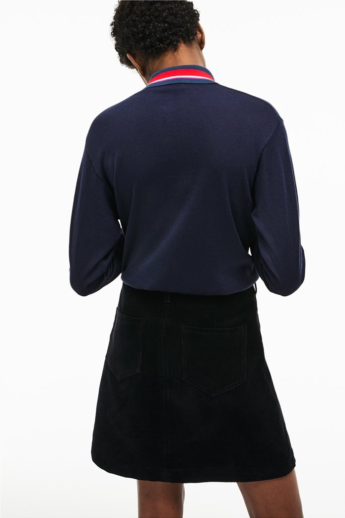 Lacoste γυναικεία μπλούζα Polo με σίριτι στον γιακά 1
