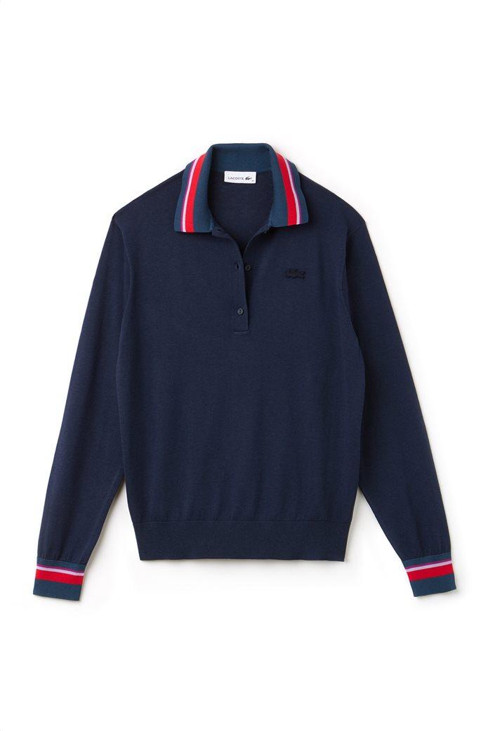 Lacoste γυναικεία μπλούζα Polo με σίριτι στον γιακά 4