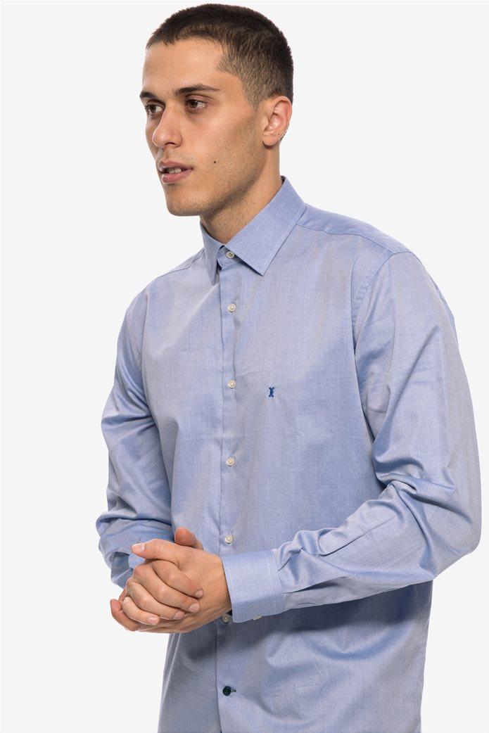 The Bostonians ανδρικό πουκάμισο μακρυμάνικο μονόχρωμο 5 1facf8ce292