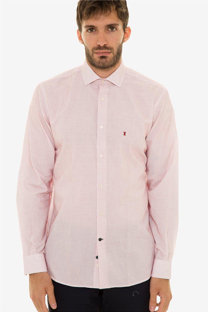 e78a2ebfc2ba The Bostonians ανδρικό πουκάμισο με μικρό καρό σχέδιο (sizes 39-46) 0