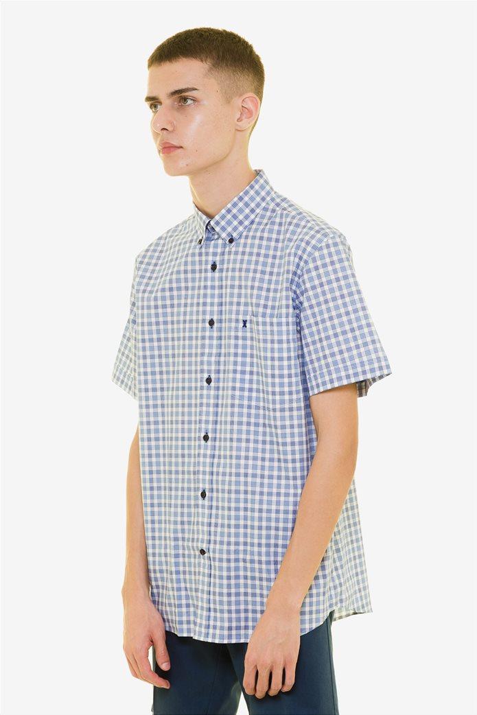 The Bostonians ανδρικό καρό πουκάμισο κοντομάνικο με button down γιακά 2