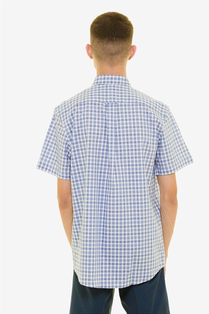 The Bostonians ανδρικό καρό πουκάμισο κοντομάνικο με button down γιακά 3