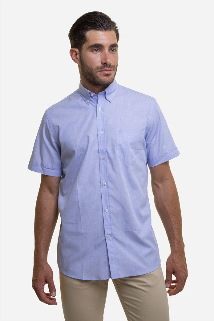 The Bostonians ανδρικό κοντομάνικο πουκάμισο (sizes 39-46) Γαλάζιο 0