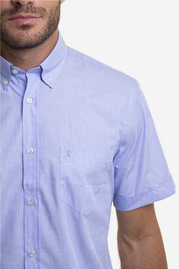 The Bostonians ανδρικό κοντομάνικο πουκάμισο (sizes 39-46) Γαλάζιο 1