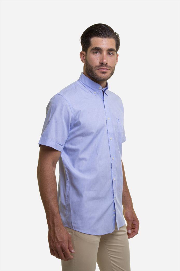 The Bostonians ανδρικό κοντομάνικο πουκάμισο (sizes 39-46) Γαλάζιο 3