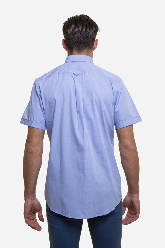 The Bostonians ανδρικό κοντομάνικο πουκάμισο με καρό μικροσχέδιο 4