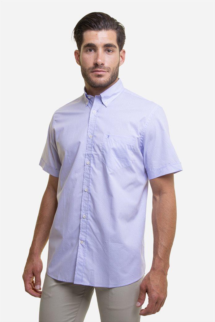 The Bostonians ανδρικό κοντομάνικο πουκάμισο με πουά μικροσχέδιο 0
