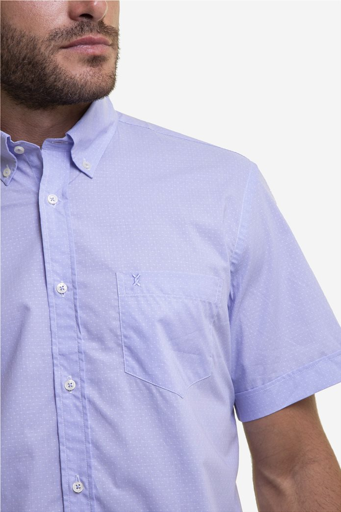 The Bostonians ανδρικό κοντομάνικο πουκάμισο με πουά μικροσχέδιο 1