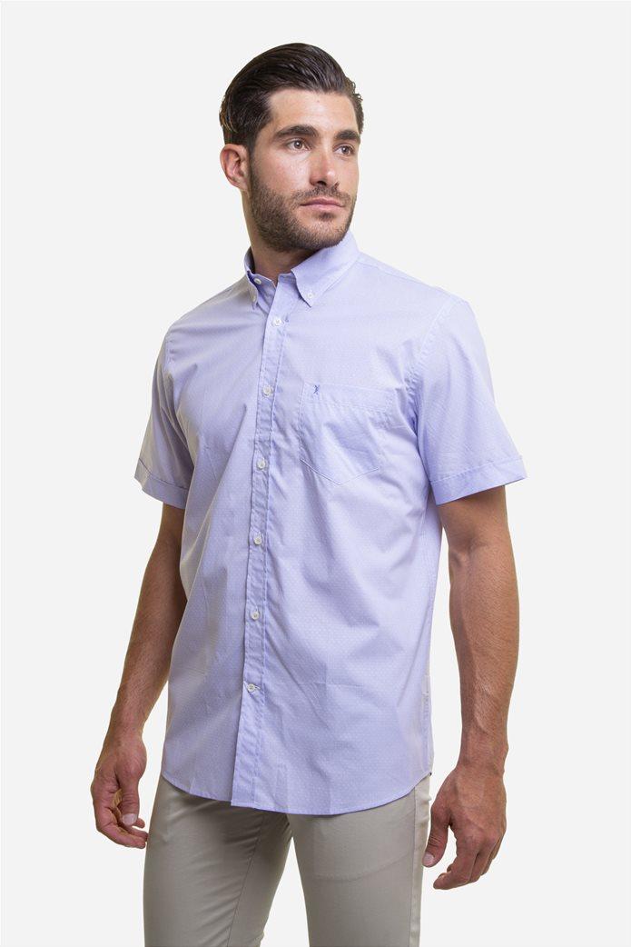 The Bostonians ανδρικό κοντομάνικο πουκάμισο με πουά μικροσχέδιο 2