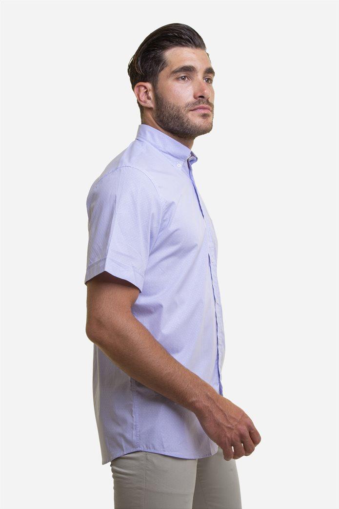 The Bostonians ανδρικό κοντομάνικο πουκάμισο με πουά μικροσχέδιο 3
