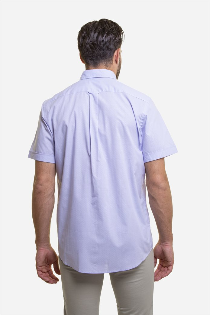 The Bostonians ανδρικό κοντομάνικο πουκάμισο με πουά μικροσχέδιο 4