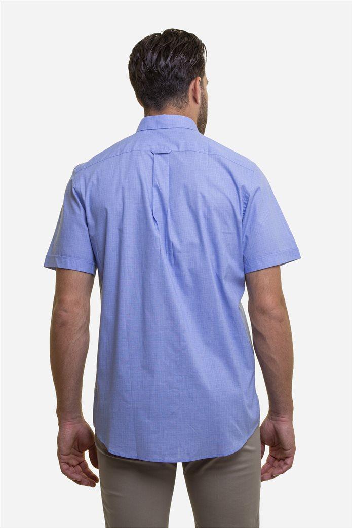 The Bostonians ανδρικό κοντομάνικο πουκάμισο με ton-sur-ton καρό σχέδιο 4
