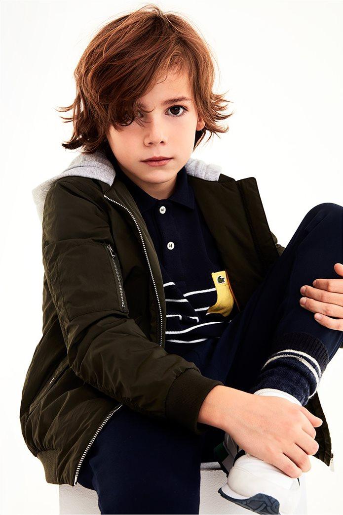 Lacoste παιδικό μπουφάν με κουκούλα (4-16 ετών) 1