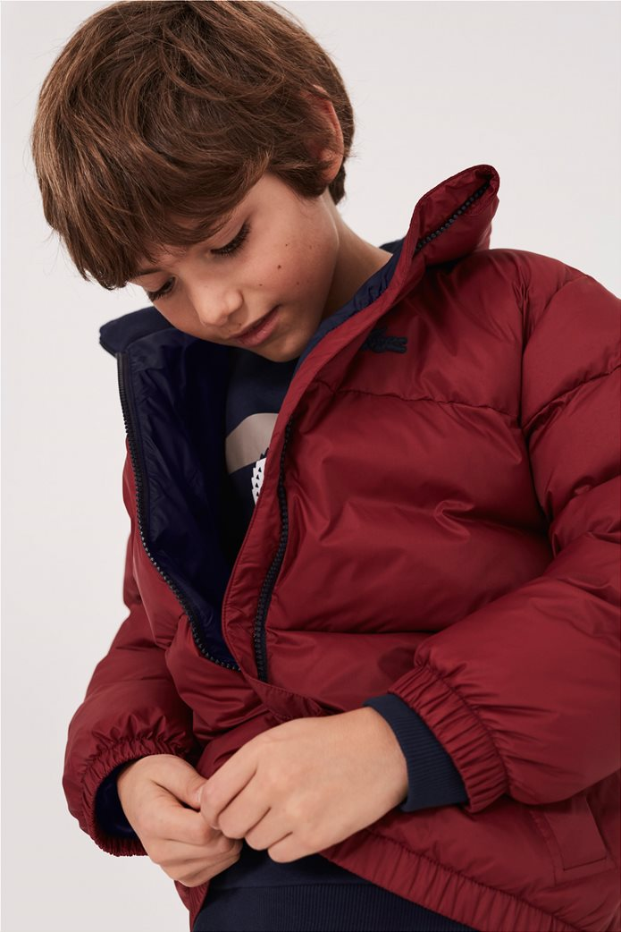 Lacoste παιδικό καπιτονέ μπουφάν με ενσωματωμένη κρυφή κουκούλα 2