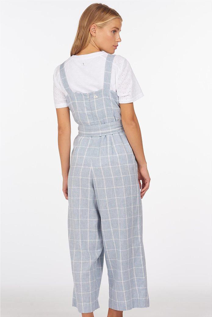"Barbour γυναικεία cropped φόρμα ολόσωμη καρό με ζωνάκι ""Barrier"" 2"