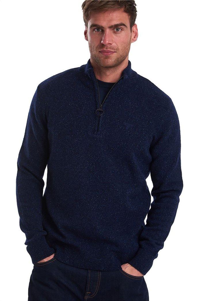 "Barbour ανδρική πλεκτή μπλούζα με φερμουάρ 3/4 ""Tisbury"" 0"