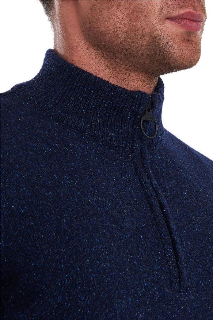 "Barbour ανδρική πλεκτή μπλούζα με φερμουάρ 3/4 ""Tisbury"" 1"