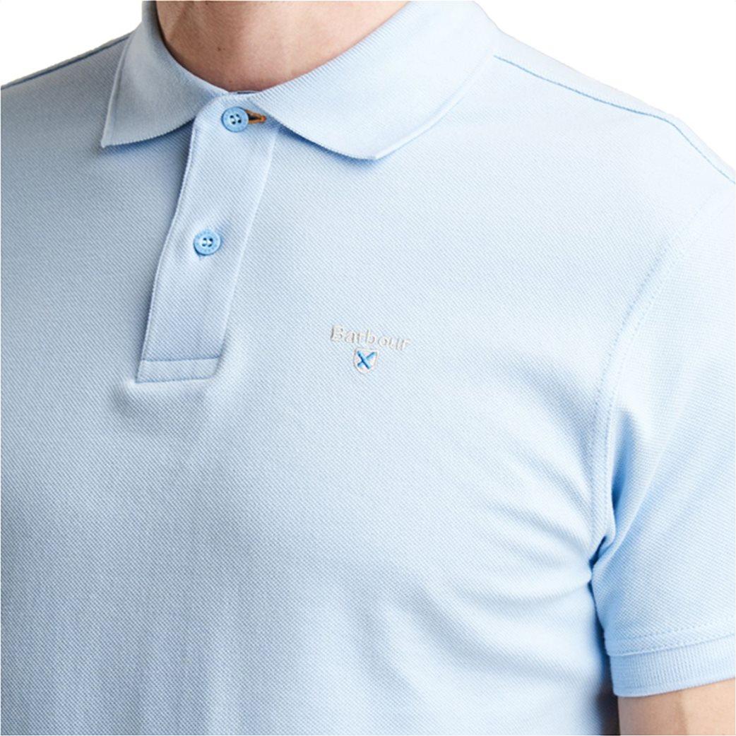 Barbour ανδρική μπλούζα πόλο μονόχρωμη 2