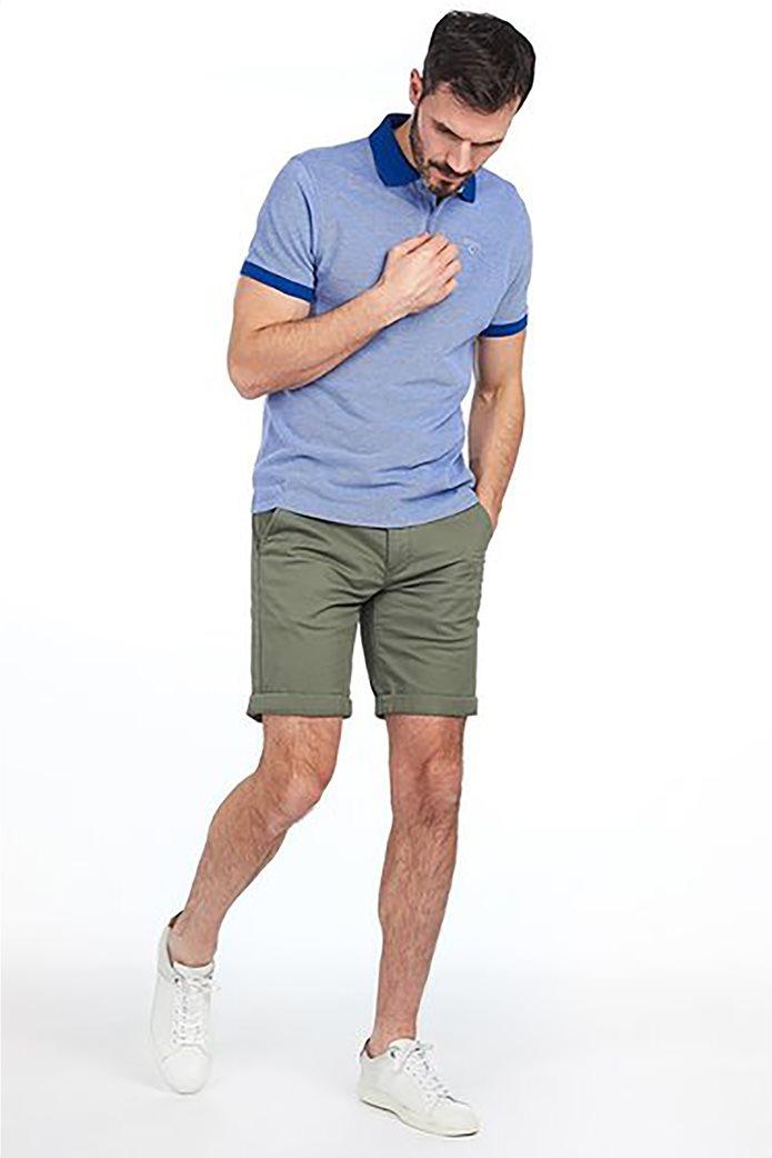 Barbour ανδρική polo μπλούζα με λεπτομέρειες σε διαφορετικό χρώμα 0