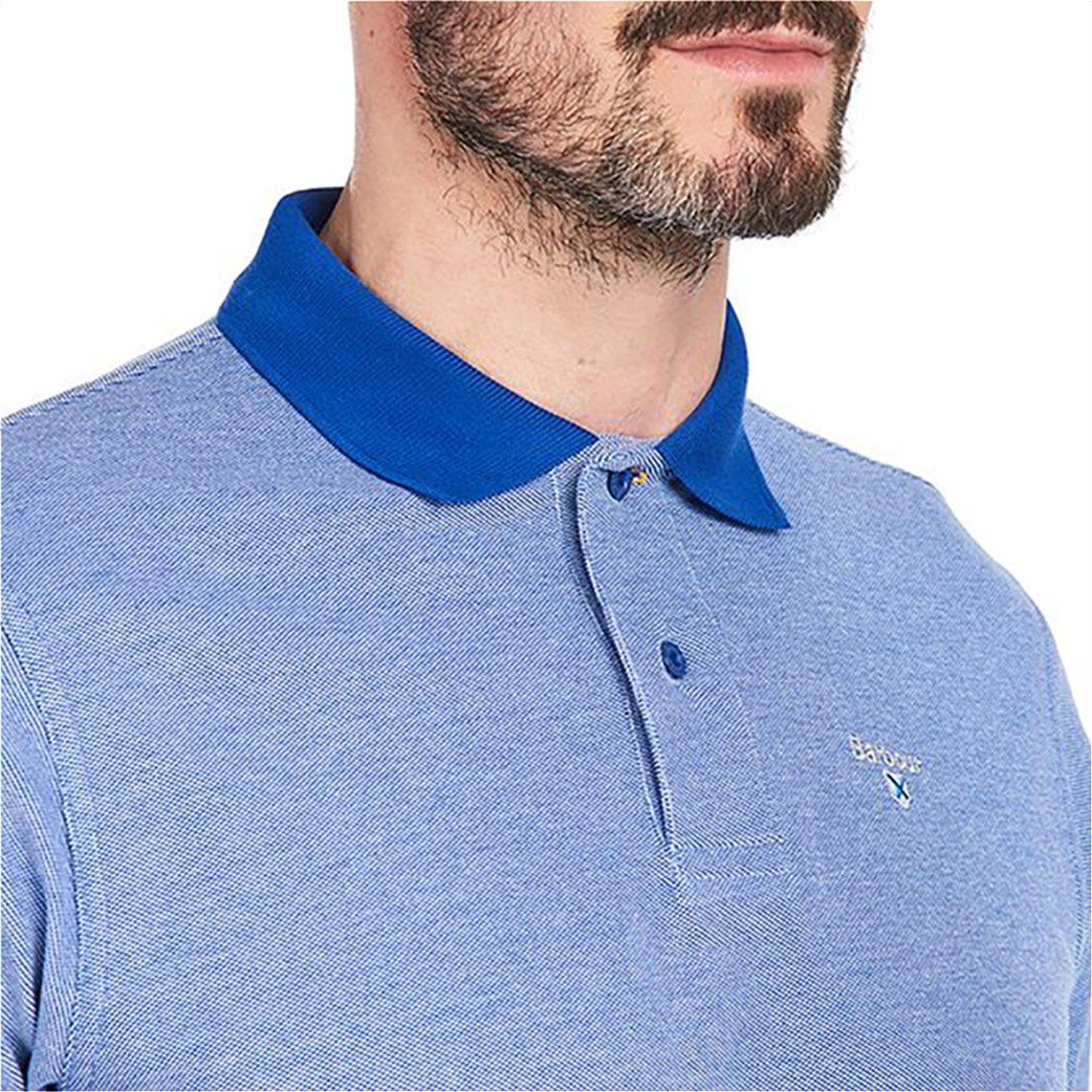 Barbour ανδρική polo μπλούζα με λεπτομέρειες σε διαφορετικό χρώμα 1