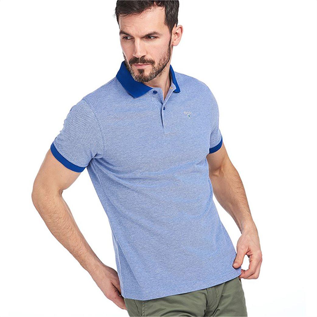 Barbour ανδρική polo μπλούζα με λεπτομέρειες σε διαφορετικό χρώμα 2