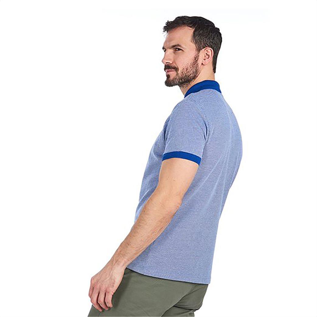 Barbour ανδρική polo μπλούζα με λεπτομέρειες σε διαφορετικό χρώμα 3
