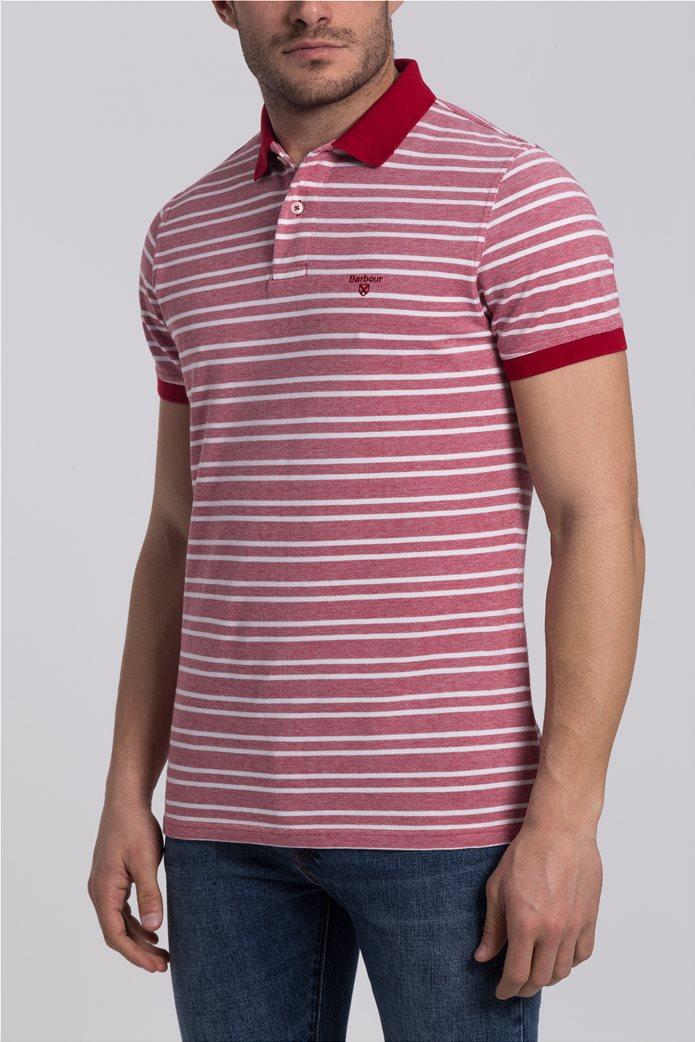 Ανδρική πόλο μπλούζα Bedford Stripe Barbour 0