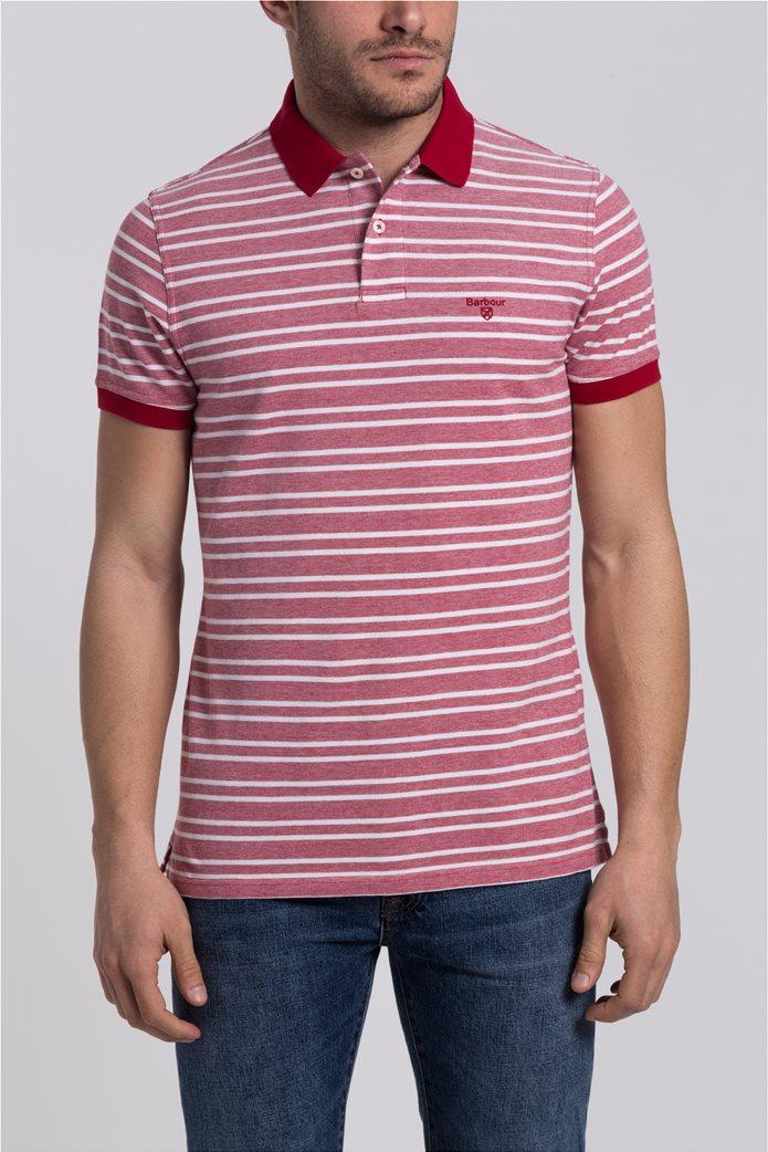 Ανδρική πόλο μπλούζα Bedford Stripe Barbour 2
