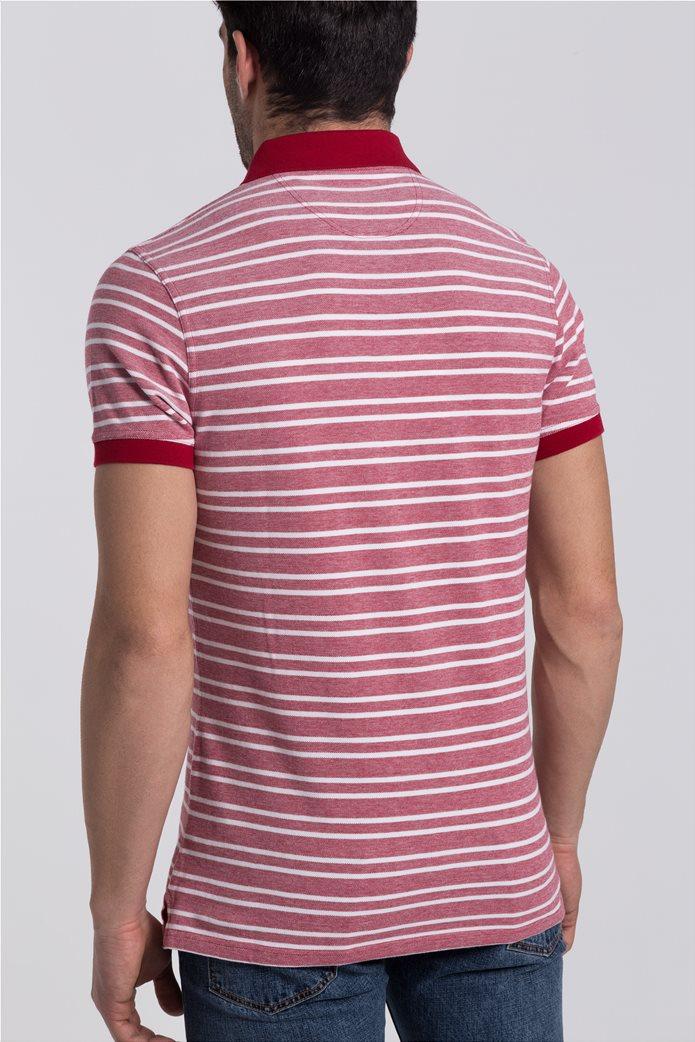 Ανδρική πόλο μπλούζα Bedford Stripe Barbour 3