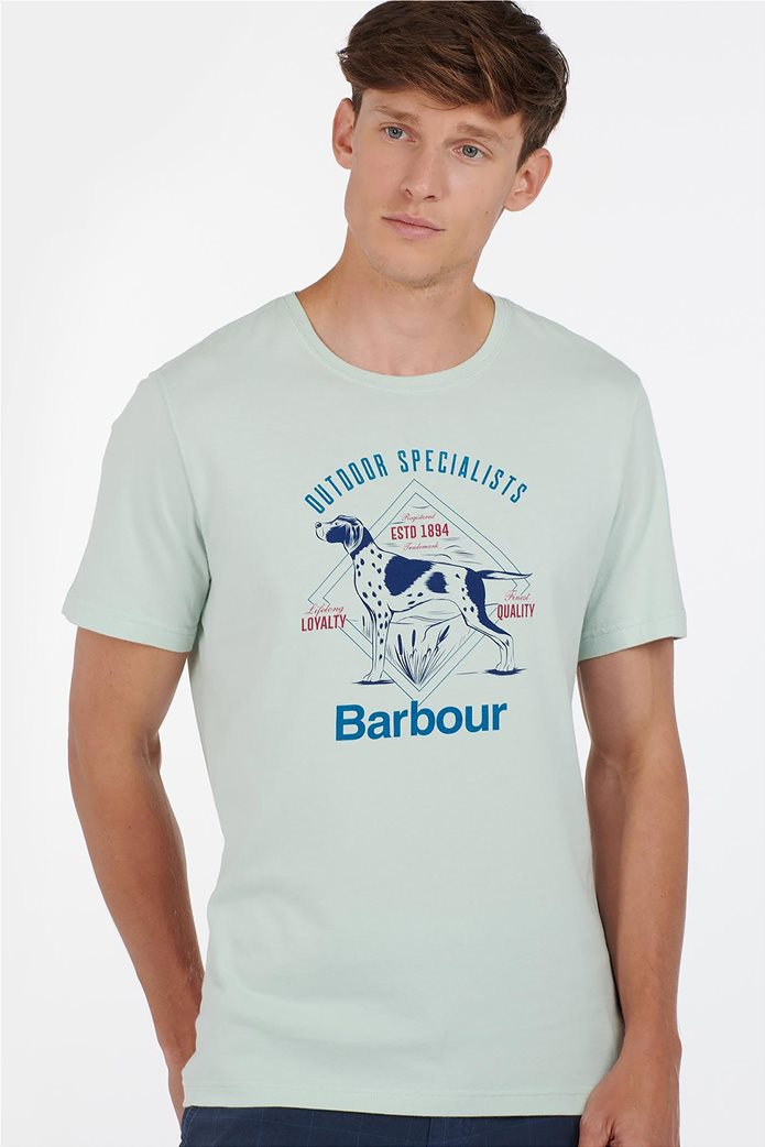 "Barbour ανδρικό T-shirt με print ""Loyal"" 0"