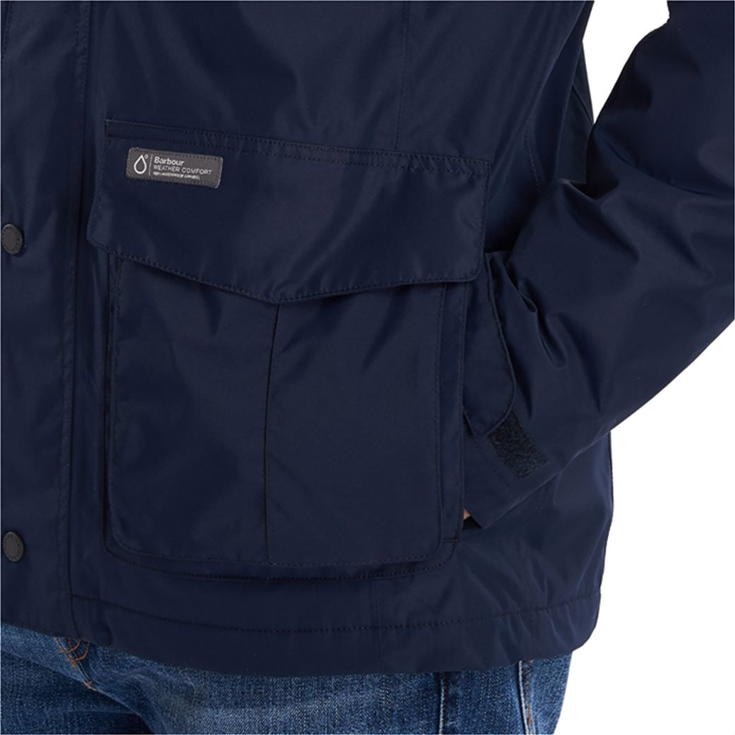 "Barbour ανδρικό μπουφάν με flap τσέπες ""Hexham Waterproof"" 4"