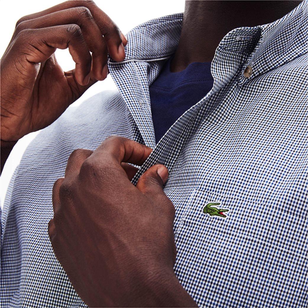 Lacoste ανδρικό καρό πουκάμισο με μία τσέπη 2
