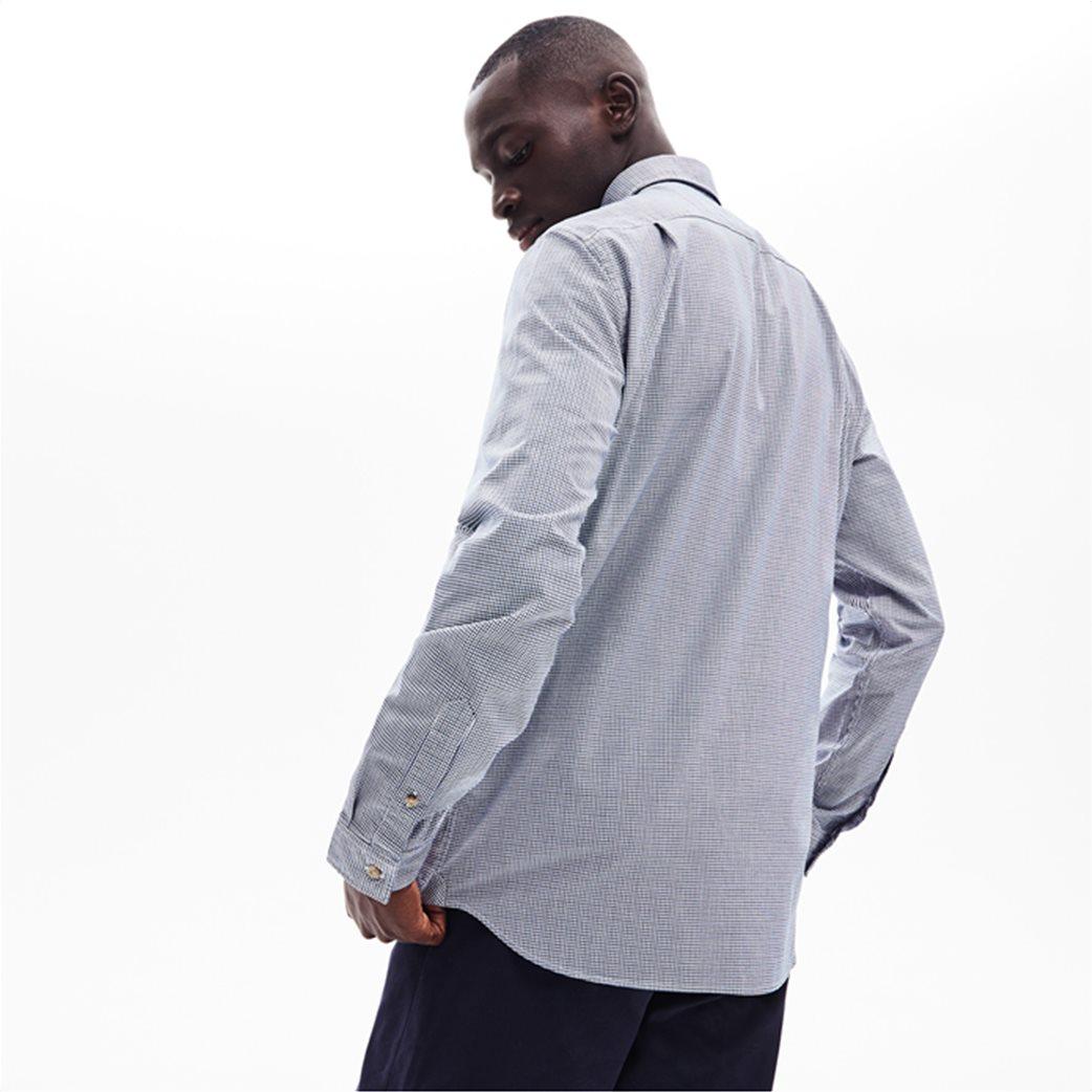 Lacoste ανδρικό καρό πουκάμισο με μία τσέπη 3