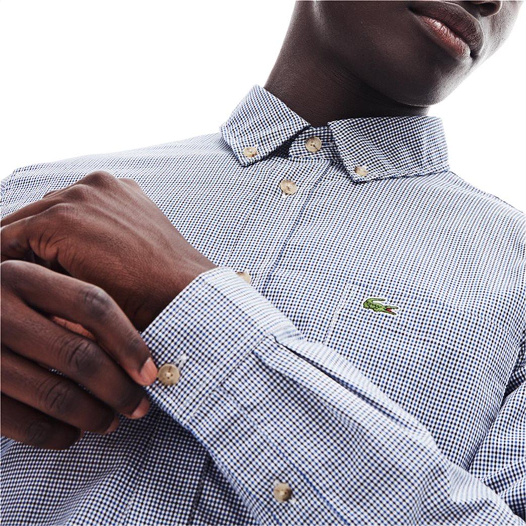 Lacoste ανδρικό καρό πουκάμισο με μία τσέπη 4