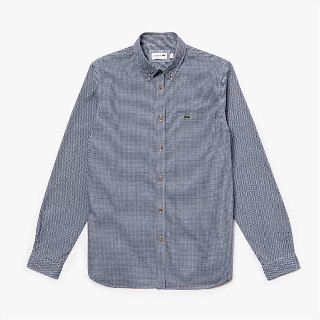 Lacoste ανδρικό καρό πουκάμισο με μία τσέπη 6