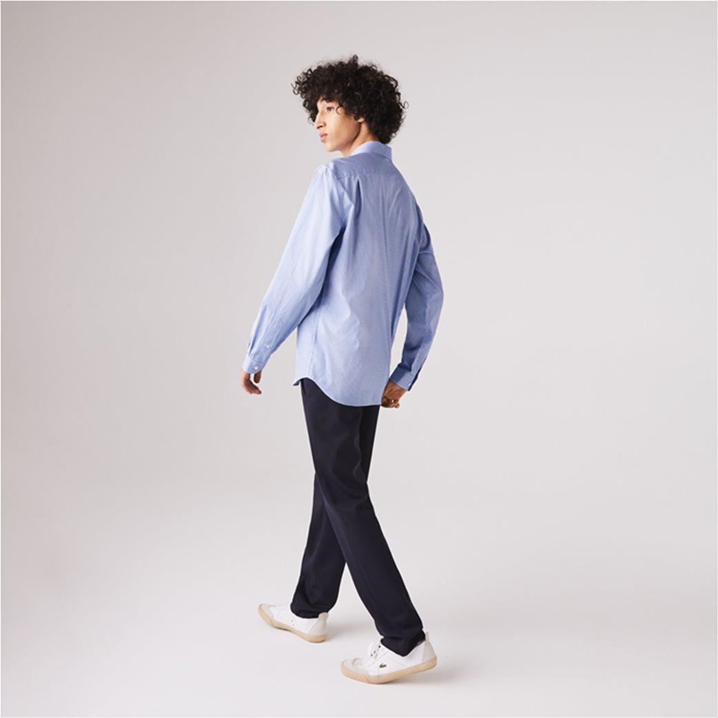 Lacoste ανδρικό πουκάμισο με μικρό καρό Regular Fit Γαλάζιο 2