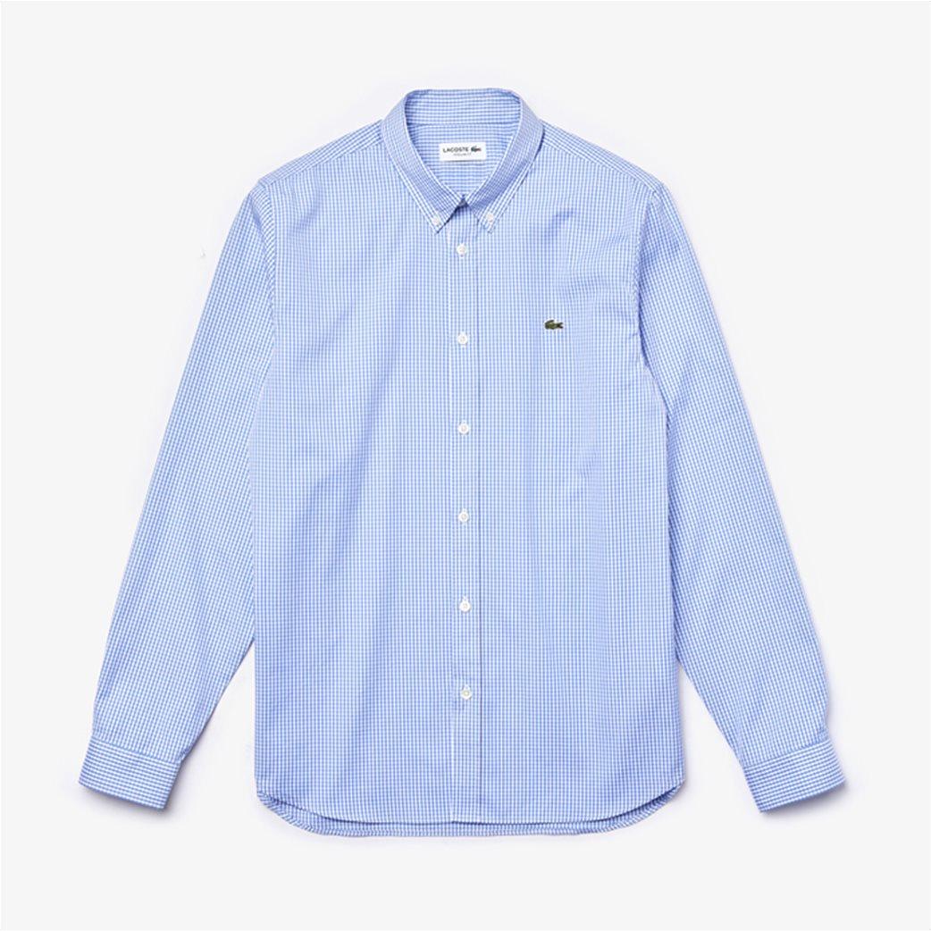 Lacoste ανδρικό πουκάμισο με μικρό καρό Regular Fit Γαλάζιο 5